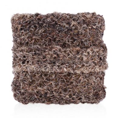 Натуральная массажная мочалка-подушечка из конского волоса, черная
