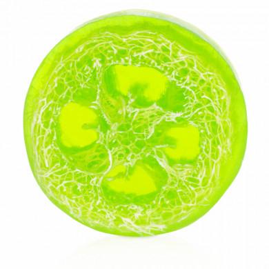 Яблочное мыло с люффой image