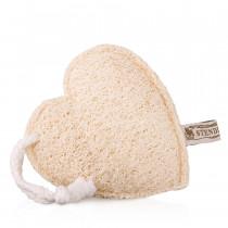Мочалка из люффы в форме сердца
