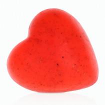Клубничное мыло в форме сердца